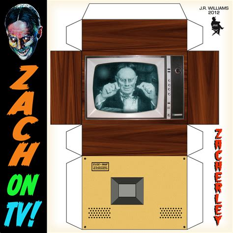 How To Make A Paper Tv - wfmu s rock n soul ichiban zach on tv paper model