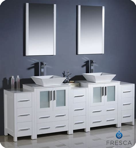 84 bathroom vanities and cabinets fresca torino 84 quot white modern double bathroom vanity