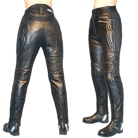 ladies brown leather biker women s stealth leather bike jeans