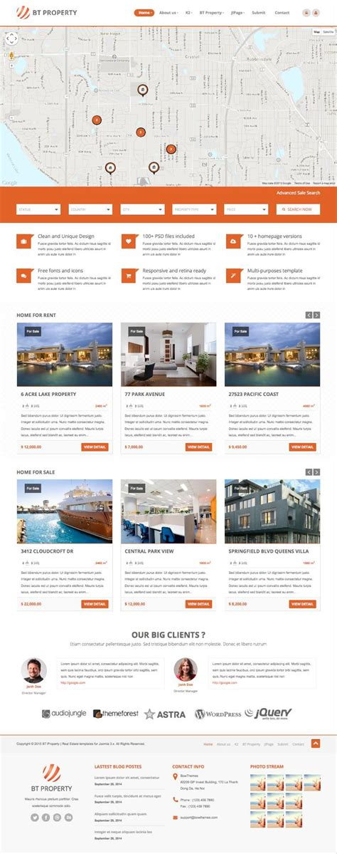template joomla real estate free bt travel joomla template free download