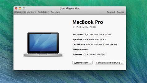 Macbook Pro Os X mein macbook pro 7 1 13 mid 2010 mit os x 10 9 mavericks security haberland it