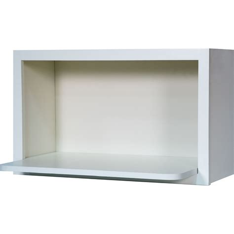 30 inch microwave shelf wall cabinet in shaker white 30