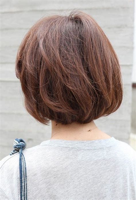 what does the back of a short bob haircut look like back view short brown bob hairstyle short brown bob