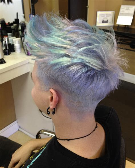 ways to dye short hair how to short spunky rainbow haircolor styled 6 ways