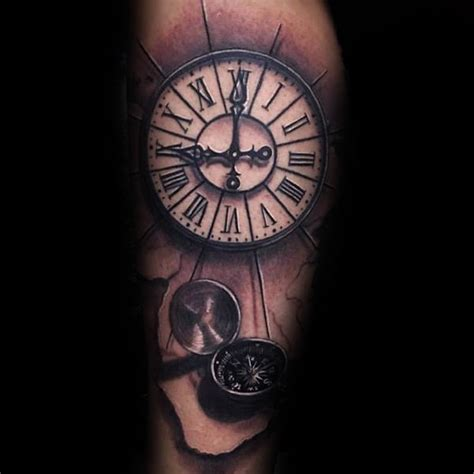 roman numeral clock tattoo 100 numeral tattoos for manly numerical ink ideas