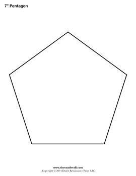 pentagon template free printable pentagon templates use these blank