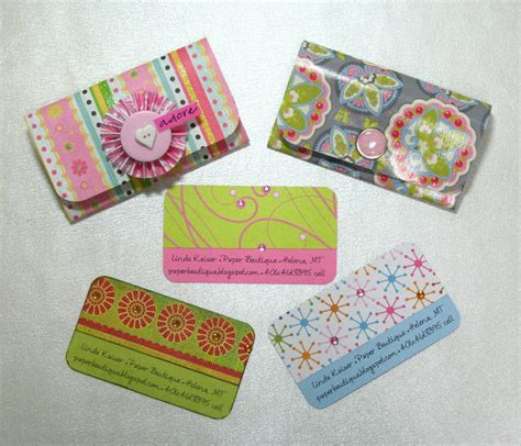how to make card holders the paper boutique and easy business card holders