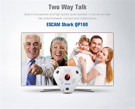 Cctv Serbaguna Bisa Micro Sd Wireless Wi Fi Ipcam Kwalitas Hd Jernih Escam Shark Qp180 Panoramic Ip Cctv Cmos 960p