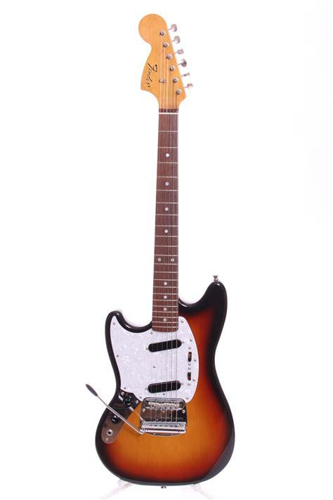 fender 65 reissue mustang fender mustang 65 reissue 2008 three tone sunburst guitar
