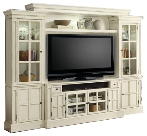 Tv Cabinet Entertainment Center by White Entertainment Center Tv Stand Wall Unit By