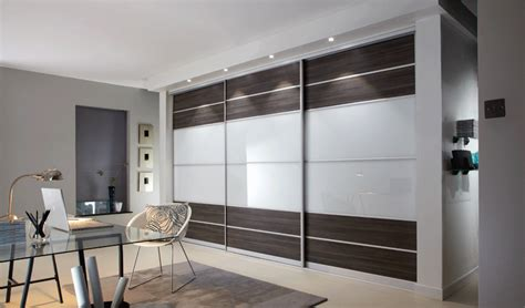 Sliding Glass Walls by Grey Brown Avola With White Glass