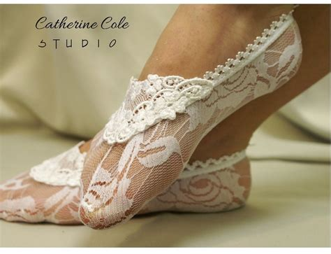 White Slippers For Wedding by Enchanting Lace Slippers White Lace Socks For Heels Great