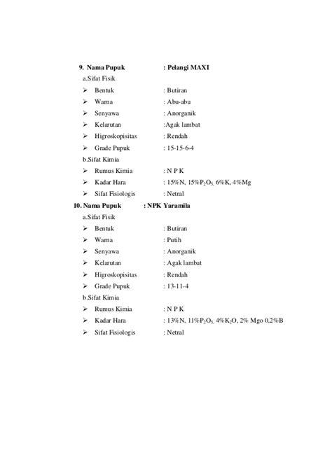 Pupuk Npk Mutiara 25 7 7 laporan 1