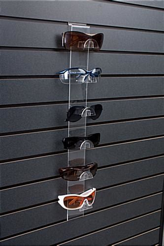 slatwall glasses display features  eyewear slots