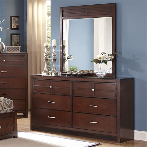 bedroom dressers with mirror new classic kensington 6 drawer dresser and vertical mirror set dunk bright furniture