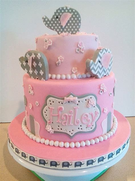 Baby Shower Cake Elephant by Baby Elephant Baby Shower Cake Cakecentral