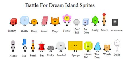 total drama fire vs ice bfdi sprites battle for dream island know your meme