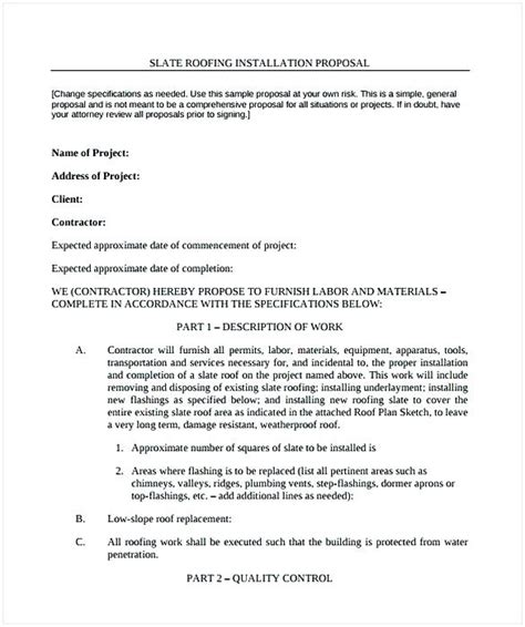 gallery of 45 sample proposal forms plumbing proposal template