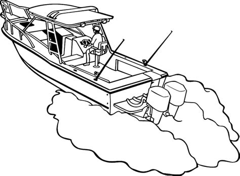 Colouring Pages Fishing Boatsll