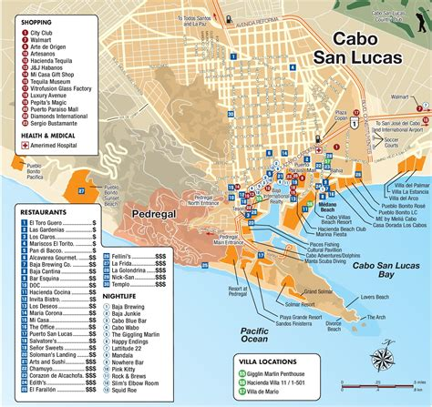 map of cabo san lucas cabo san lucas tourist attractions map