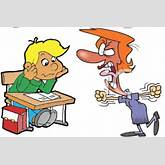 Cartoon Teacher Yelling At Student Clipart - Free Clipart