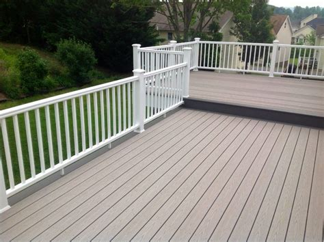 gray deck two tone timbertech reliaboard grey beach style deck