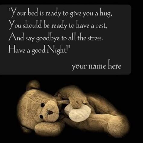 good night wishes quotes  teddy bear