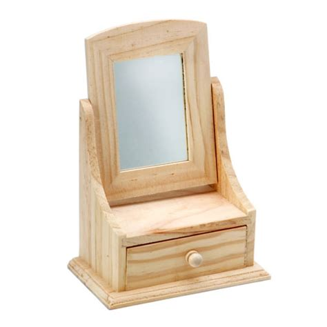 Mirror With Drawer by Vanity Style Unfinished Jewelry Drawer With Mirror