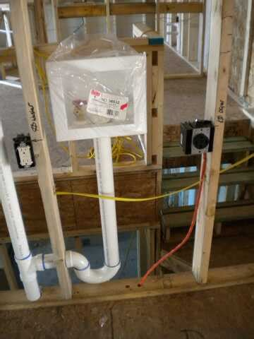 washer dryer outlet box cover washer and dryer hookups installation optional stackable washer plumbing hvac electrical rough in bscconstruction s blog
