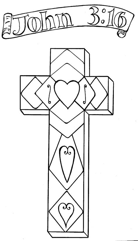 cross john 3 16 coloring pages bible pictures pinterest