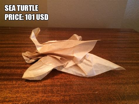 Selling Origami - etsy user makes a fortune selling terrible origami