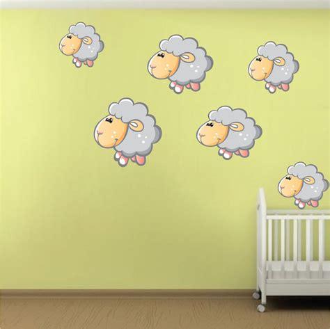 sheep wall stickers nursery sheep wall mural decal nursery wall decal murals