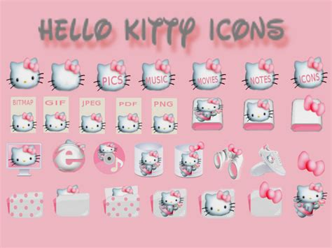download themes hello kitty untuk laptop hello kitty icons by lillysim on deviantart