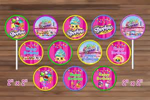shopkins cupcake toppers shopkins party magianrainbow