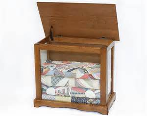 Curio Cabinet For Quilts Side Tables For Quilts Chestnut Stain Shown In