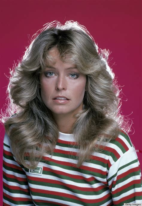 Farrah Fawcett Hairstyle by Farrah Fawcett S Flip Hairstyle The Years