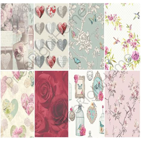 Pita Satin 1 Shabby 02 shabby chic floral wallpaper in various designs wall decor new free p p ebay