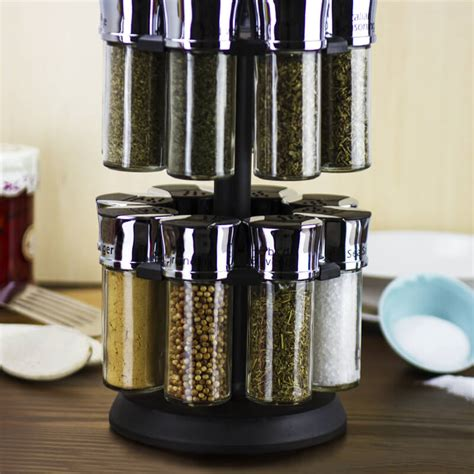 16 Spice Rack 16 Jar Carousel Spice Rack Buy From Prezzybox