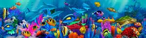 Pirate Ship Wall Mural dolphin painting neptune s garden