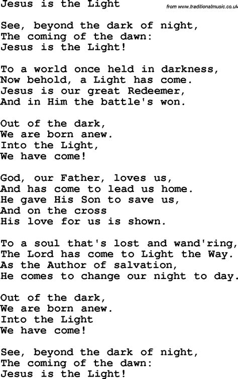Jesus Is The Light Song by Country Southern And Bluegrass Gospel Song Jesus Is The