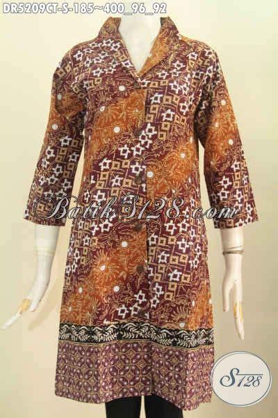 Istimewa Pakaian Wanita Dress Mimi pakaian dress batik nan istimewa untuk wanita karir usia muda 20 tahunan baju batik kerah