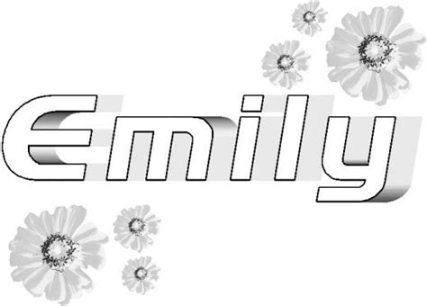 coloring pages with the name emily free coloring pages of the word emily