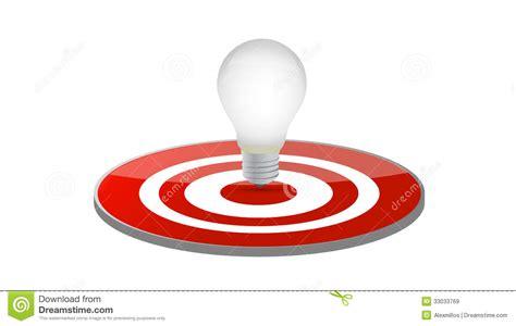 Light Target by Light Bulb Target Illustration Design Royalty Free Stock Images Image 33033769
