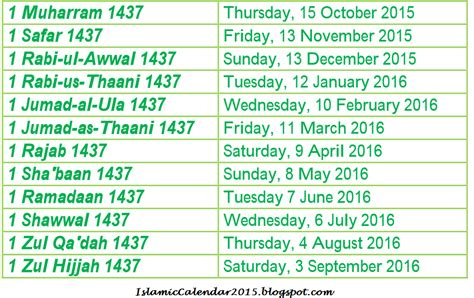 Calendar Islamic April 2014 Islamic Calendar 2015 Hijri 1437 With Holidays