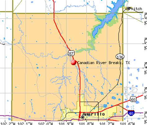 canadian river texas map canadian river
