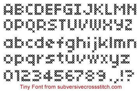 cross stitch pattern fonts pdf tiny font subversive cross stitch