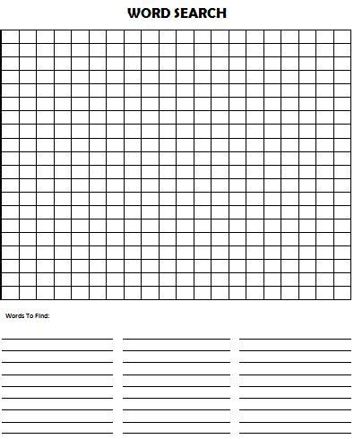 Search For Free Make Your Own Word Search Puzzle Munchkins