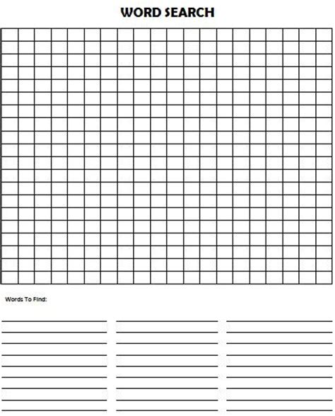 search template make your own word search puzzle munchkins