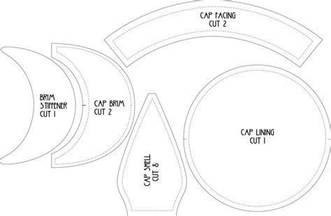 pattern to sew a welding cap flat cap pattern by lastwear baby diy pinterest