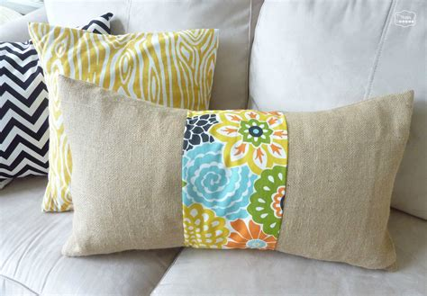 burlap pillows easy diy burlap and floral pillow the happy housie